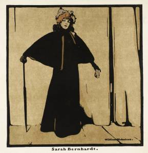 Sarah Bernhardt 1899 by Sir William Nicholson 1872-1949