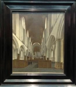 Nickelen, 'Interior of St Bavo', c1660