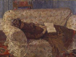 Lady on a Sofa c.1910 Harold Gilman 1876-1919 Purchased 1948 http://www.tate.org.uk/art/work/N05831