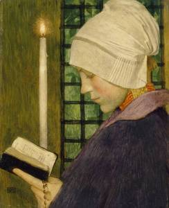 Candlemas Day circa 1901 Marianne Stokes 1855-1927 Presented by the Trustees of the Chantrey Bequest 1977 http://www.tate.org.uk/art/work/T02108