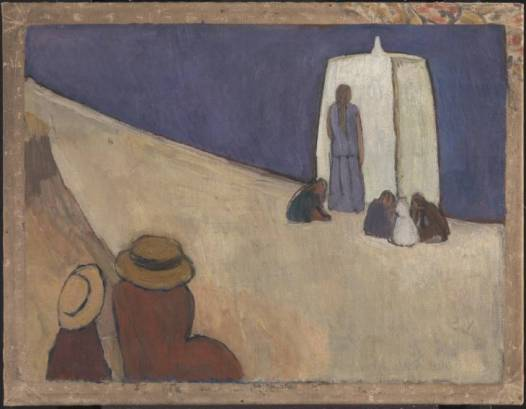 Studland Beach. Verso: Group of Male Nudes by Duncan Grant circa 1912 Vanessa Bell 1879-1961 Purchased 1976 http://www.tate.org.uk/art/work/T02080