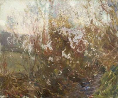 Sir-Alfred-James-Munnings-Spring-Evening-Cornwall