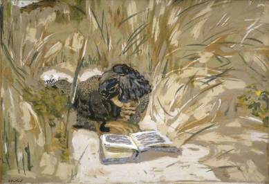 Vuillard, Jean Edouard, 1868-1940; Woman Reading in the Reeds, Saint-Jacut-de-la-mer
